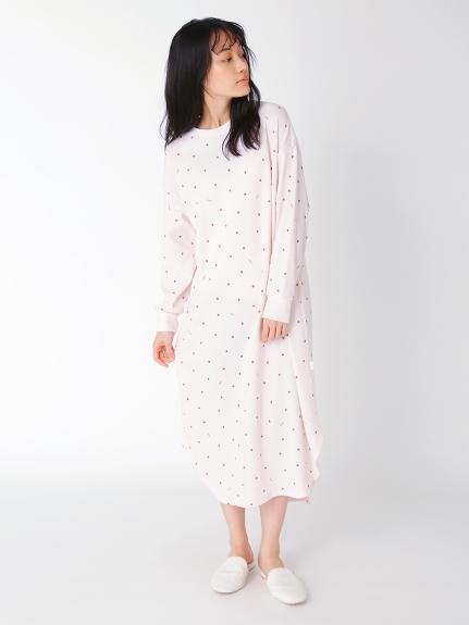 華夫格草莓長洋裝