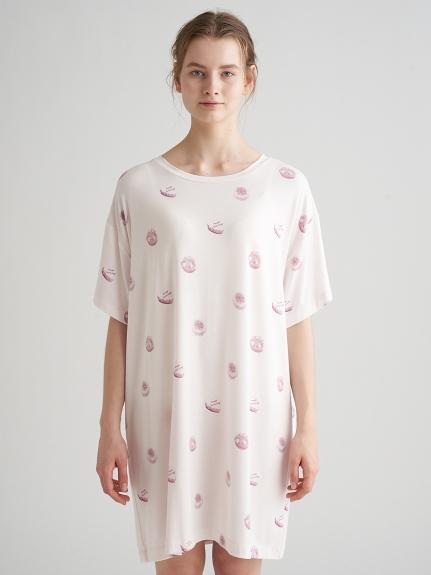 蛋糕印花嫘縈短版洋裝