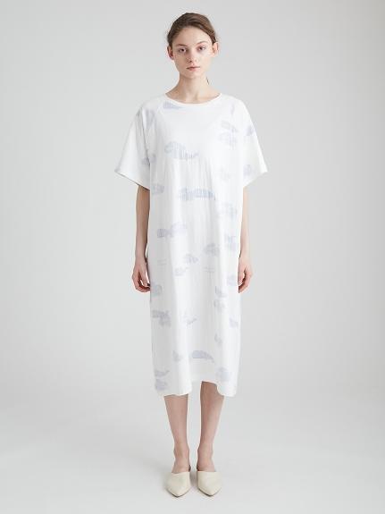 環保棉鯨魚圖案洋裝