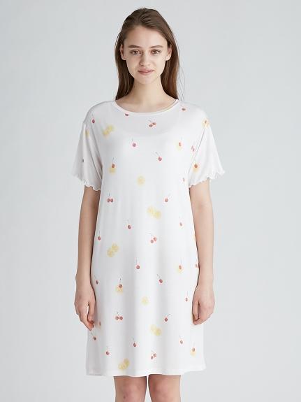 水果圖案 涼感嫘縈 洋裝