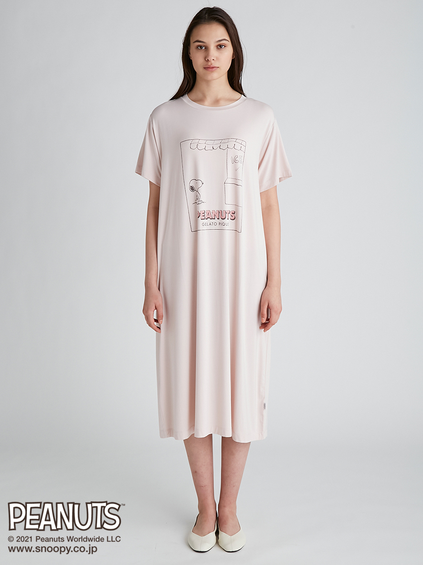 【PEANUTS】圖案印花洋裝