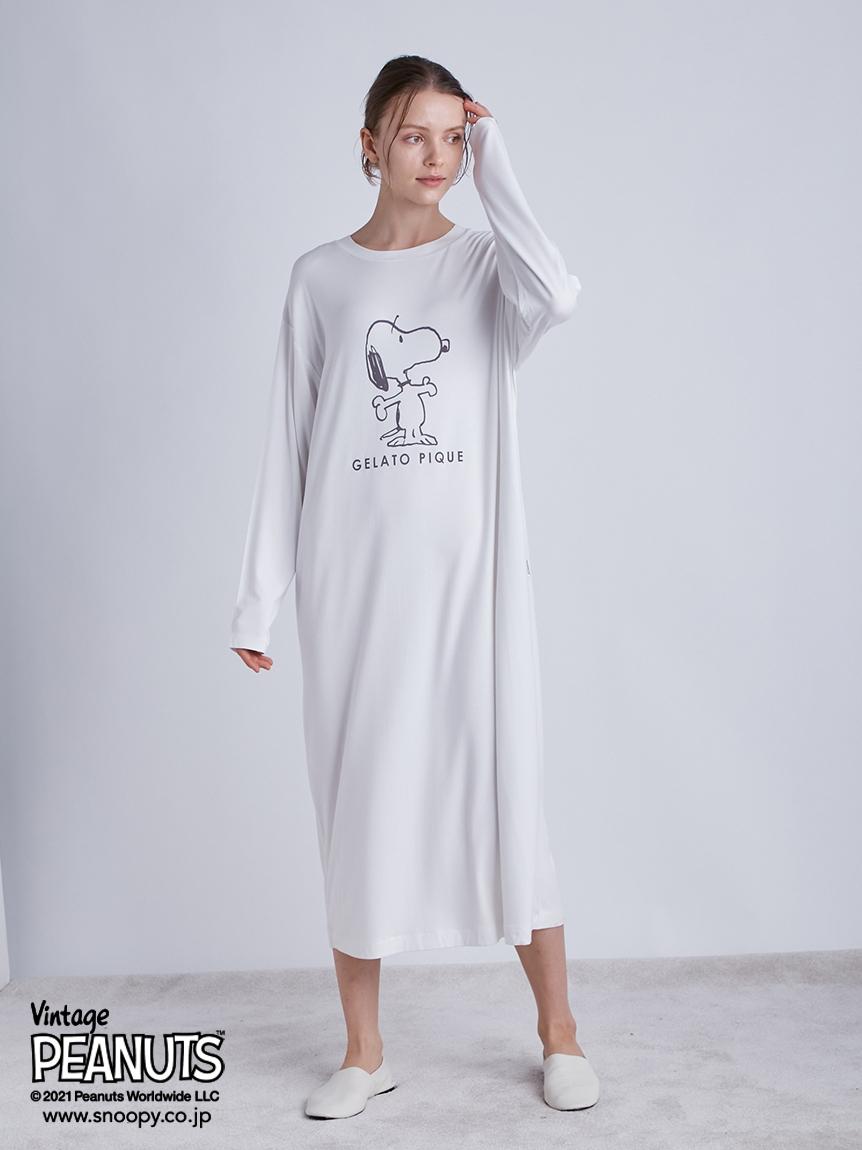 【PEANUTS】印花嫘縈洋裝