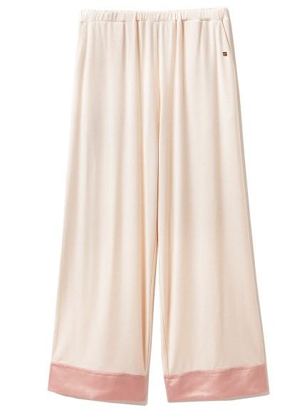 莫戴爾造型綢緞居家長褲