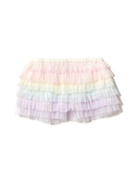 彩虹蕾絲層次短褲
