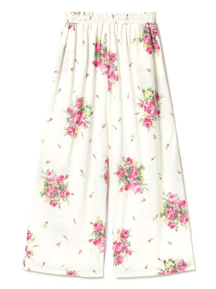 春季花卉居家長褲