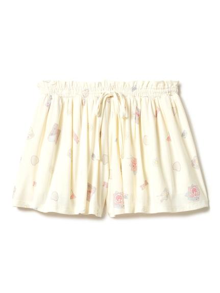 picnic主題印花短褲