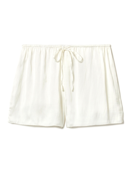 蕾絲綁帶緞面短褲