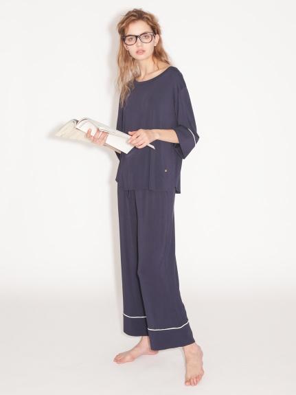 絲綢混紡長褲