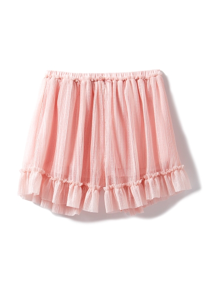 細褶薄紗短褲
