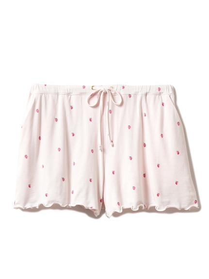 小草莓圖案短褲