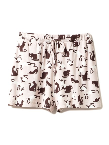 貓咪圖案短褲