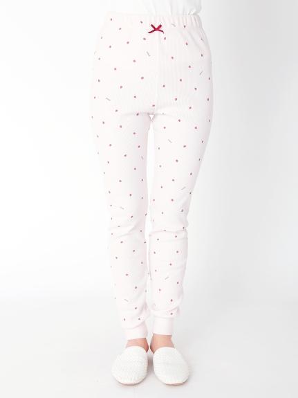 華夫格草莓長褲