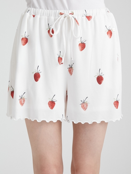 【ONLINE限定】草莓印花短褲