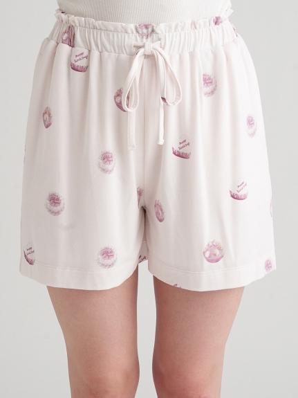 蛋糕印花嫘縈短褲