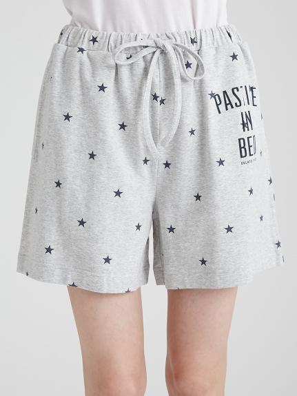 文字星星短褲