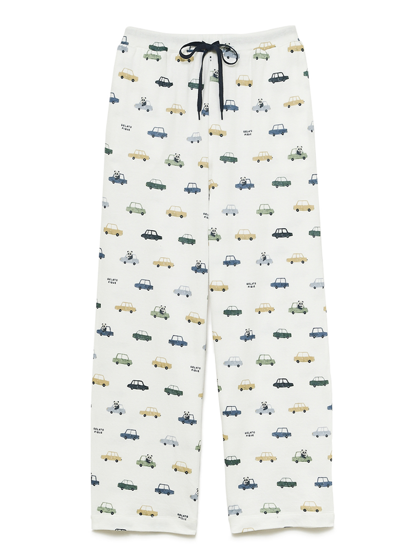 熊貓車車印花長褲