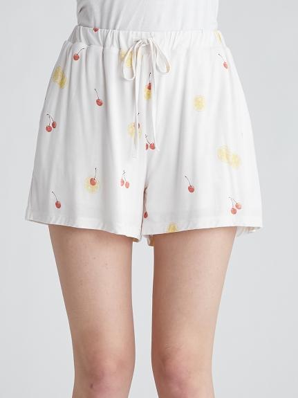 水果圖案 涼感嫘縈 短褲