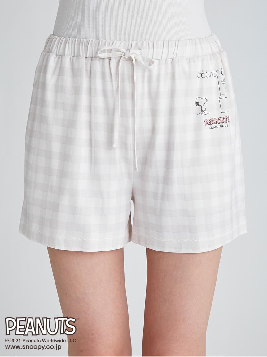 【PEANUTS】圖案印花短褲