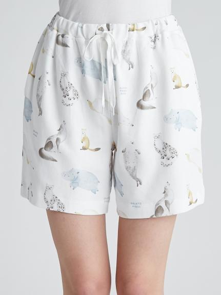 【旭山動物園】動物印花短褲