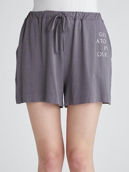 抗菌防臭嫘縈LOGO 短褲
