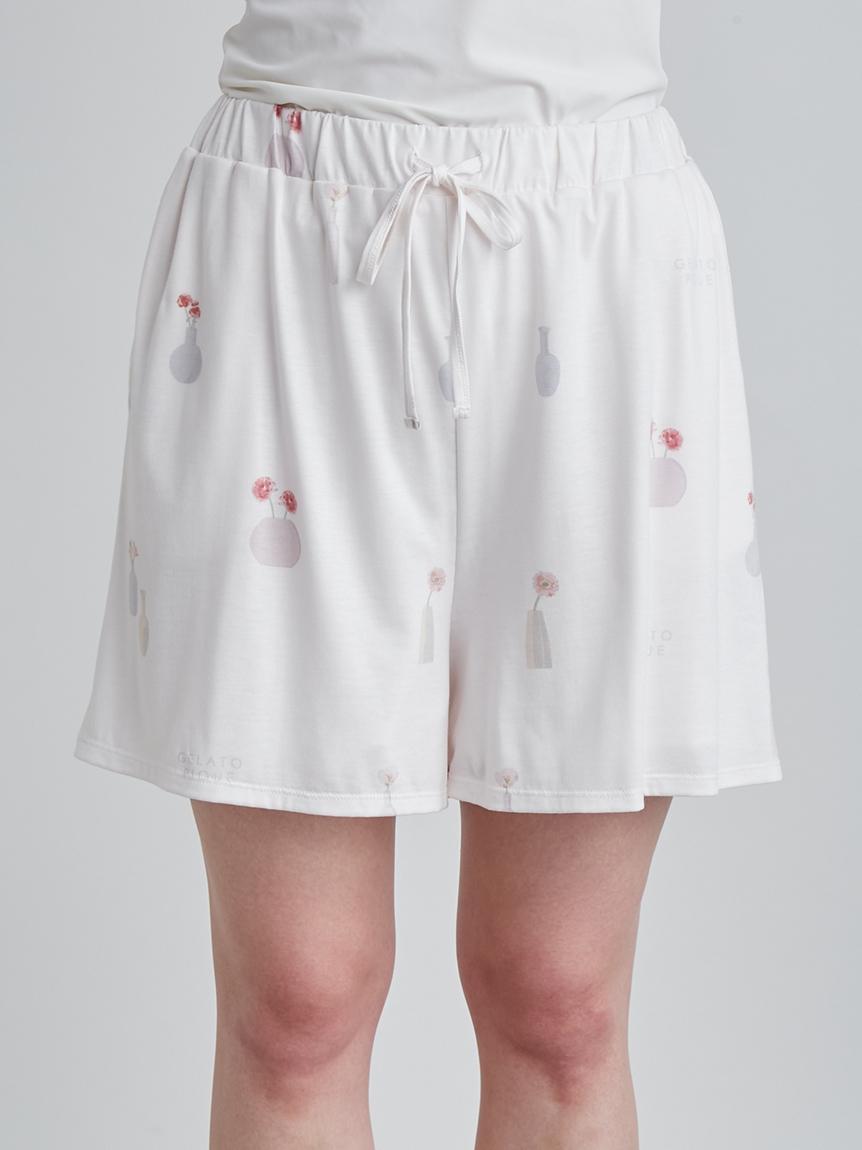 花瓶印花 短褲