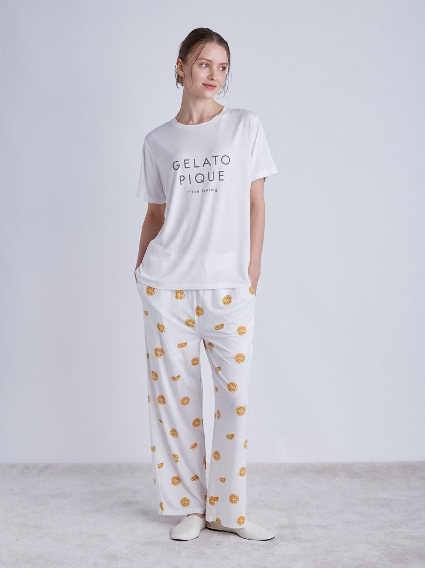 水果印花嫘縈長褲