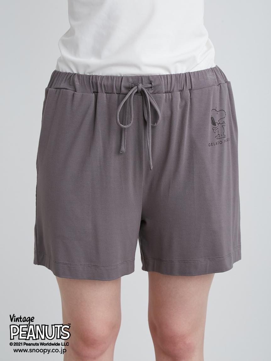 【PEANUTS】印花嫘縈短褲