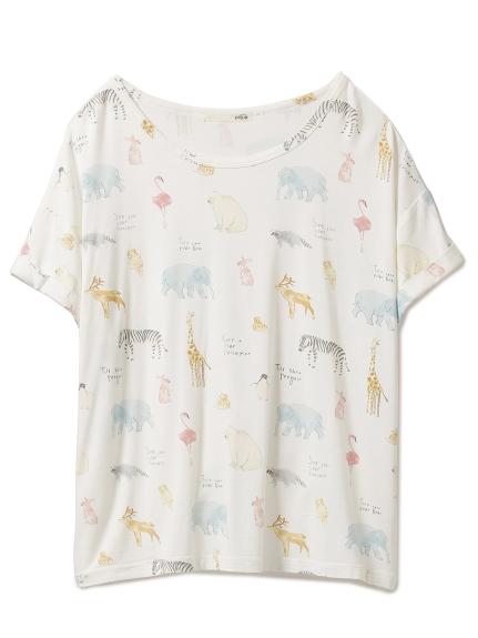 動物印花T-shirt