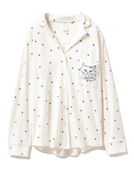 星星貓咪居家襯衫