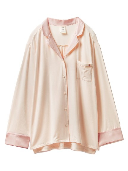 莫戴爾造型綢緞居家襯衫