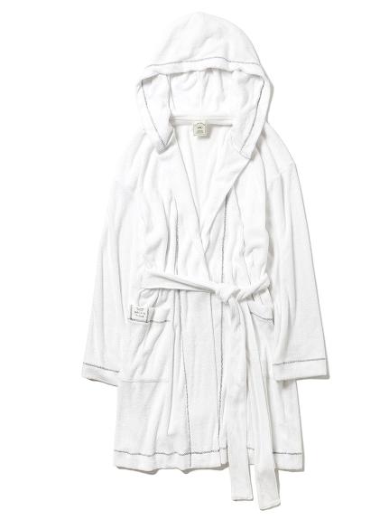 純色刷毛浴袍