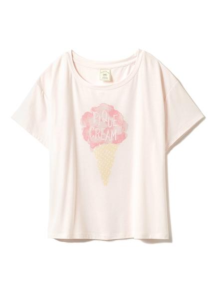 淡雅冰淇淋印花T