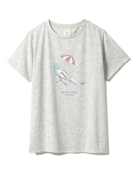 海灘風印花T-shirt