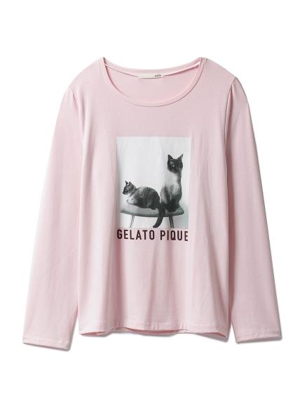 貓咪圖案長袖上衣