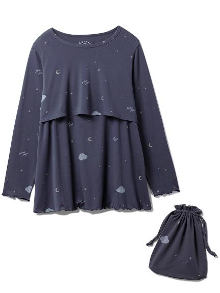 星空圖案哺乳上衣
