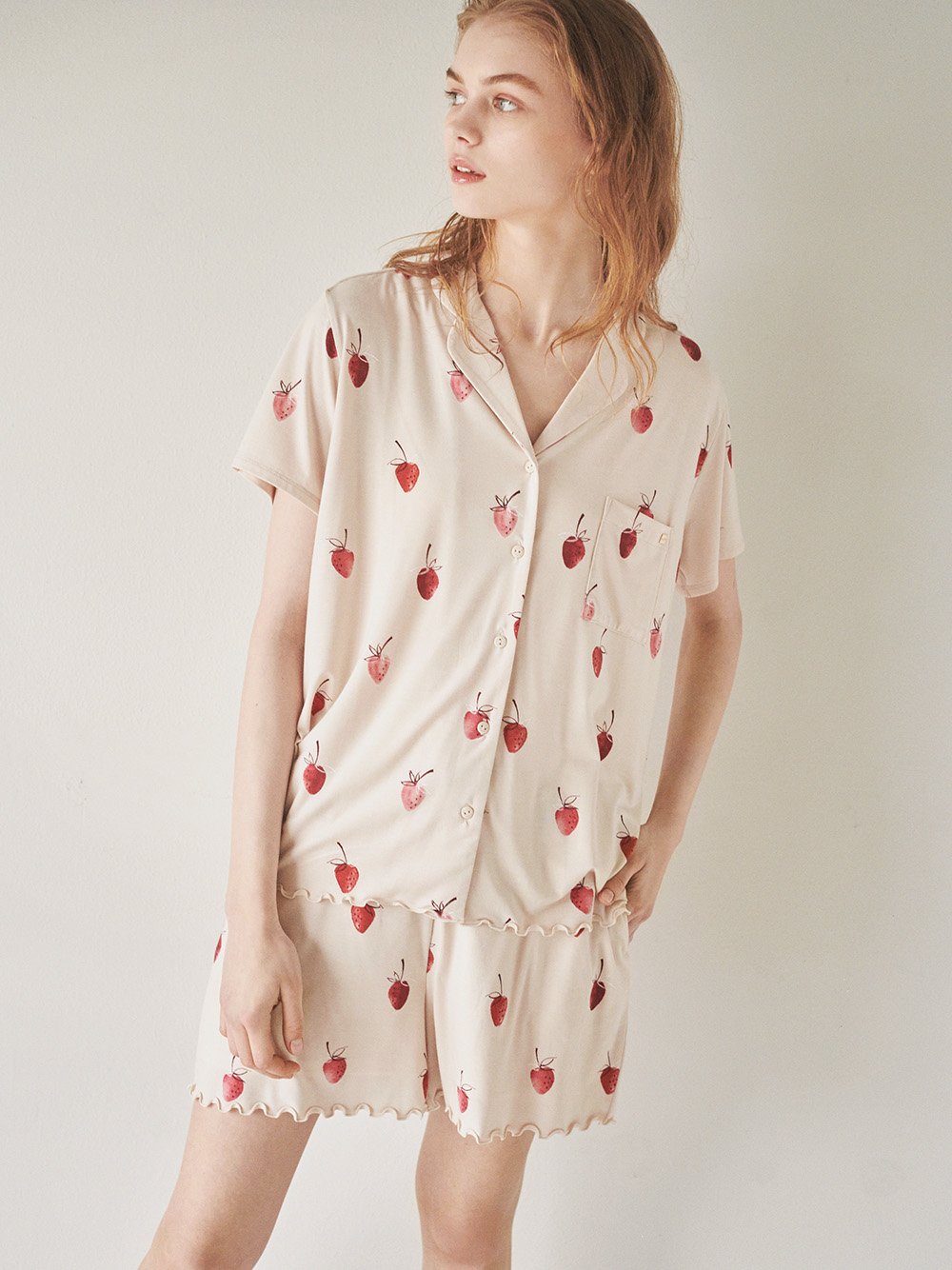 【ONLINE限定】草莓印花襯衫