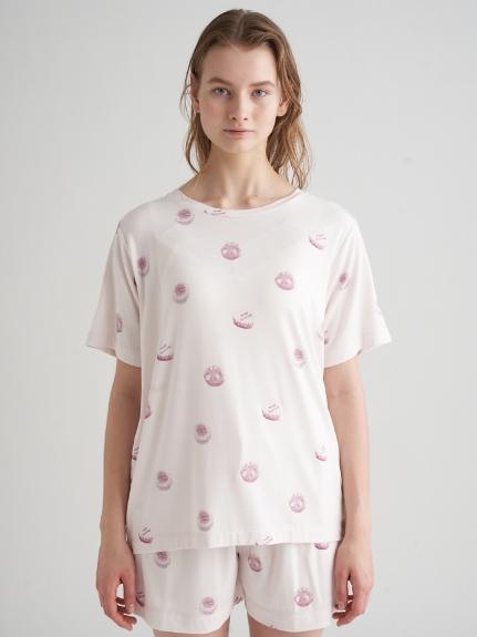 蛋糕印花嫘縈T-Shirt