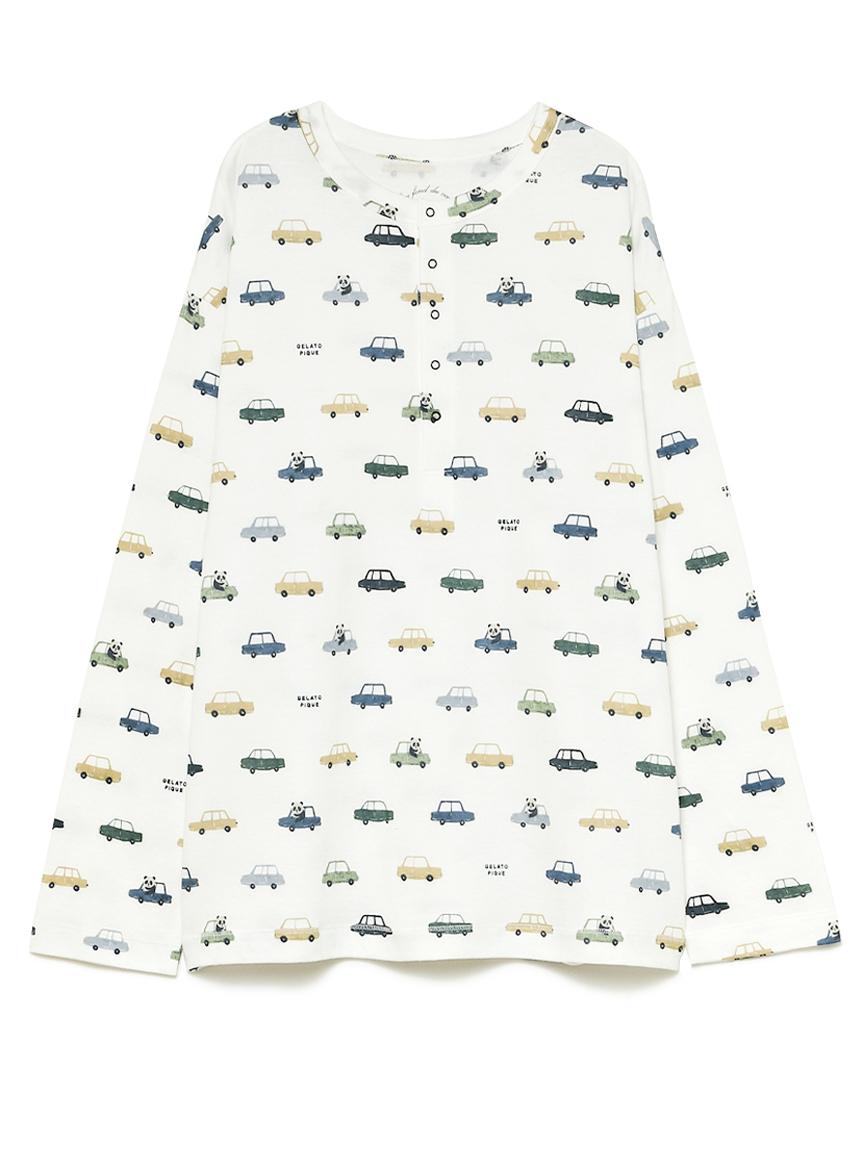 熊貓車車印花上衣