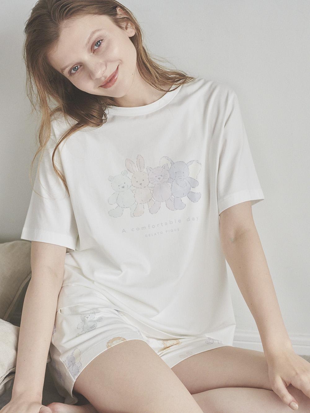 玩偶印花 圖案T-Shirt