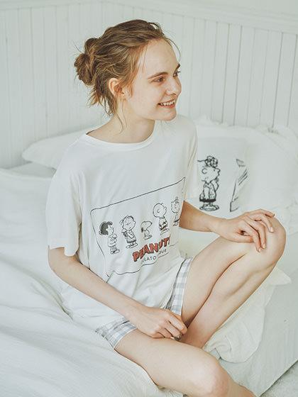 【PEANUTS】圖案印花T-Shirt