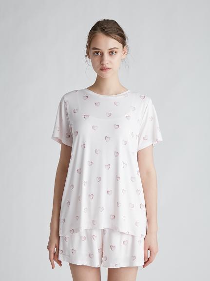 愛心印花嫘縈T-Shirt