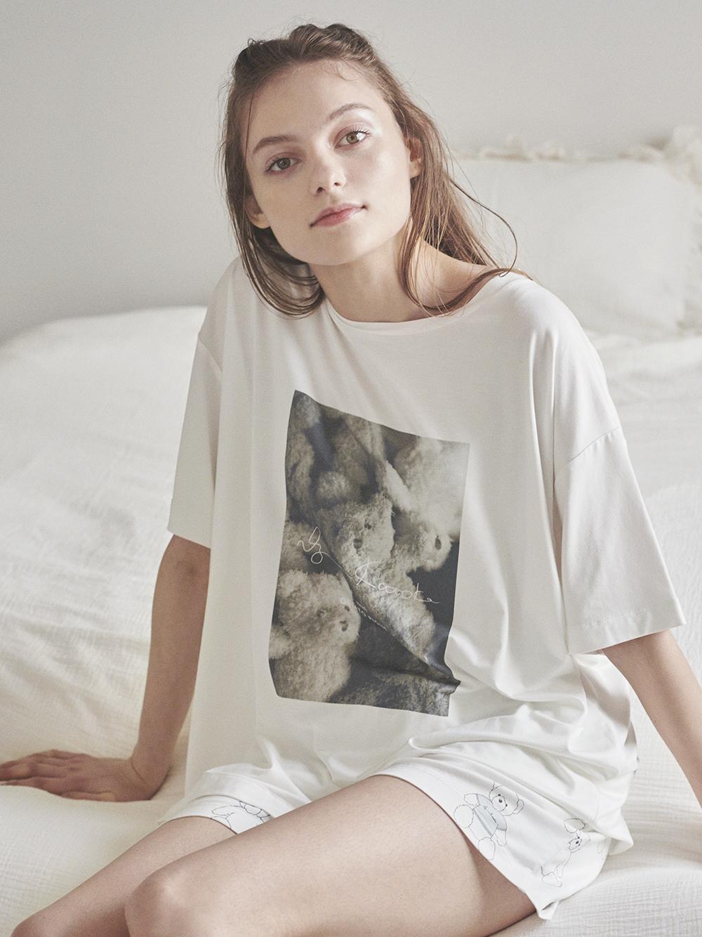 【kotoka izumi】插畫家聯名 小熊照片T-Shirt