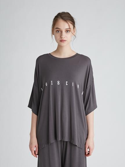 涼感嫘縈 運動風LOGO寬鬆上衣