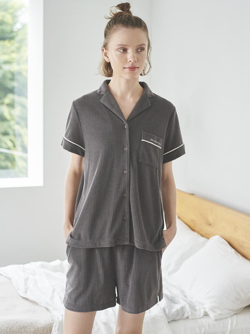 短絨羅紋短袖襯衫