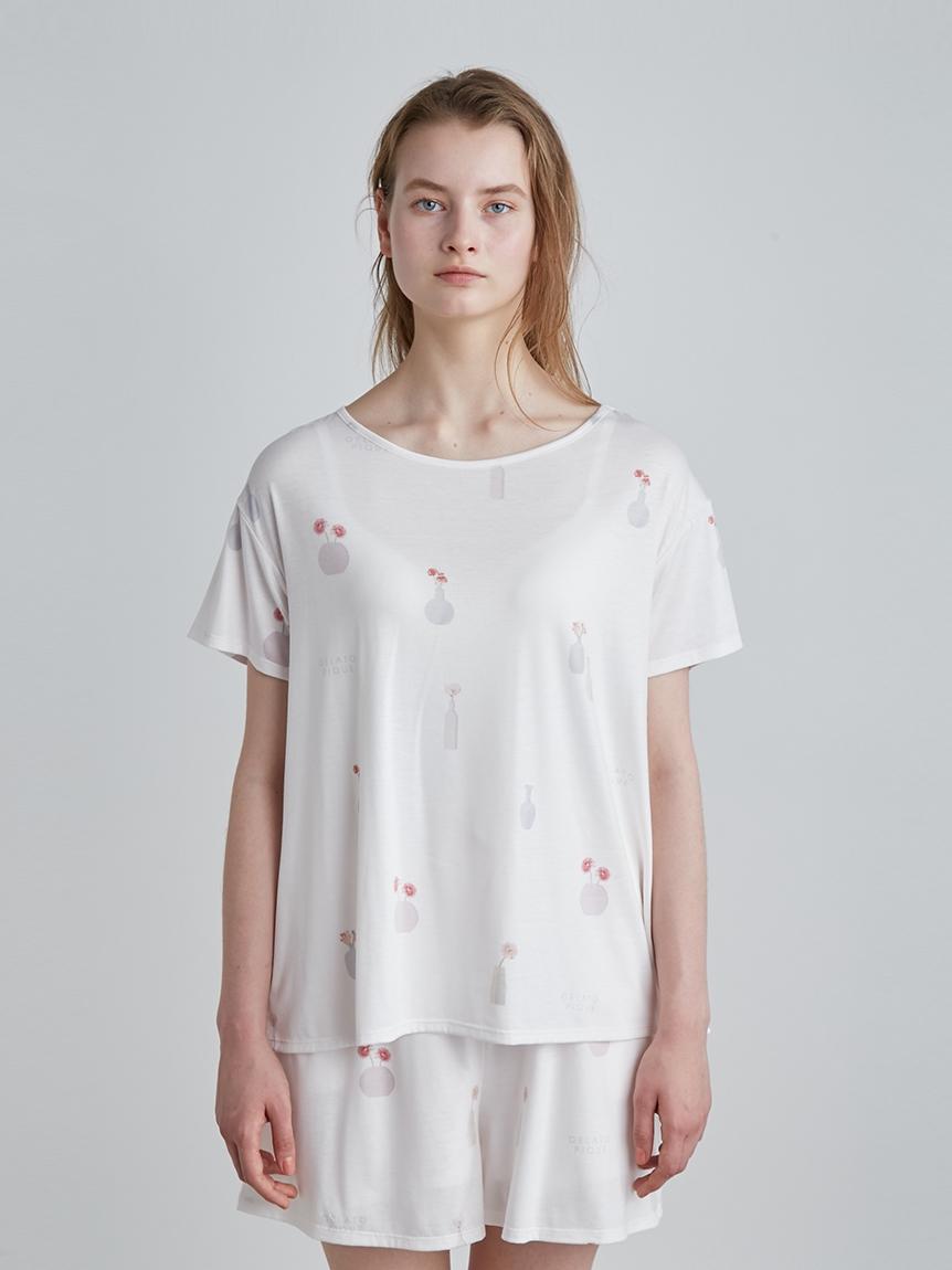 花瓶印花 T-Shirt