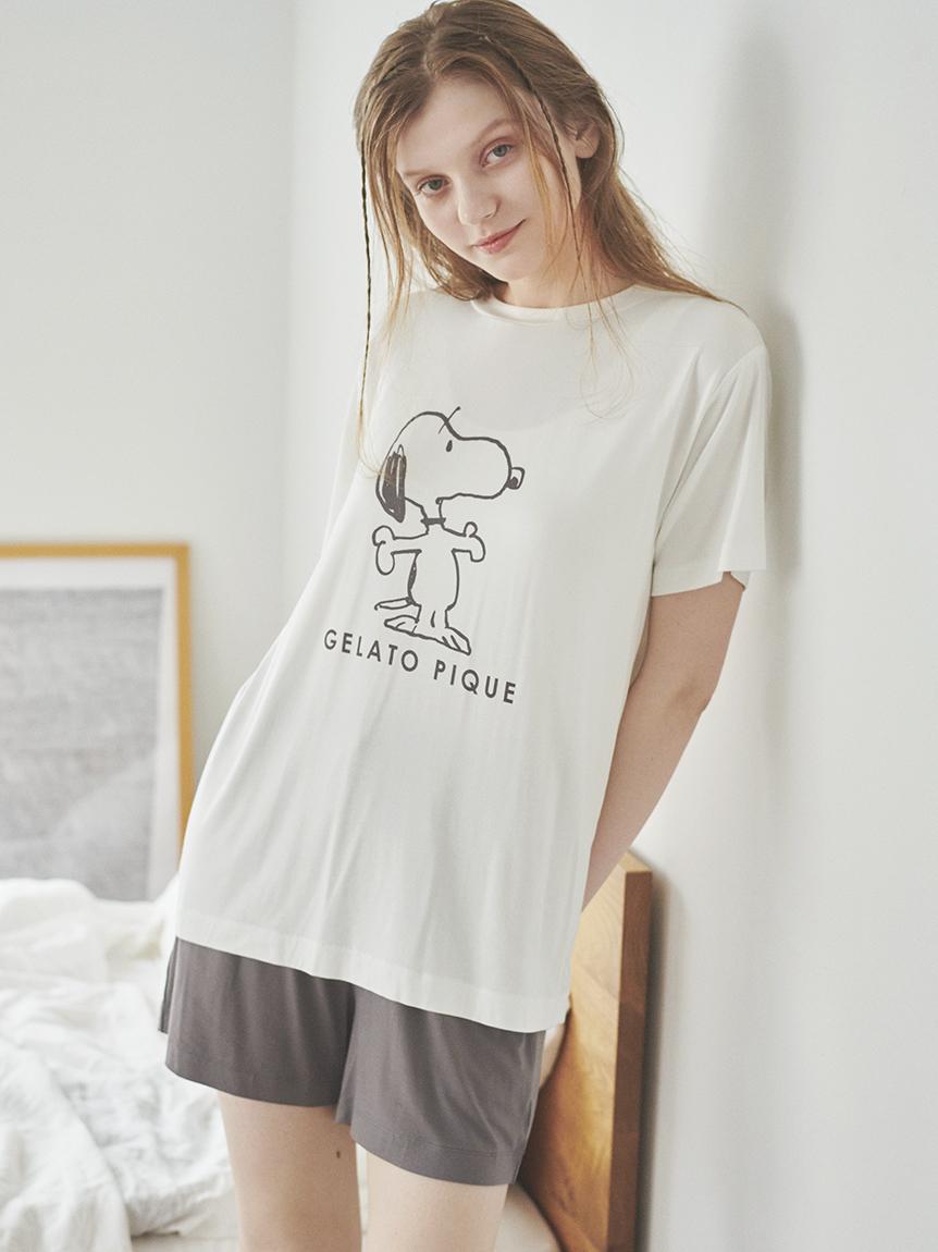 【PEANUTS】印花嫘縈T-Shirt
