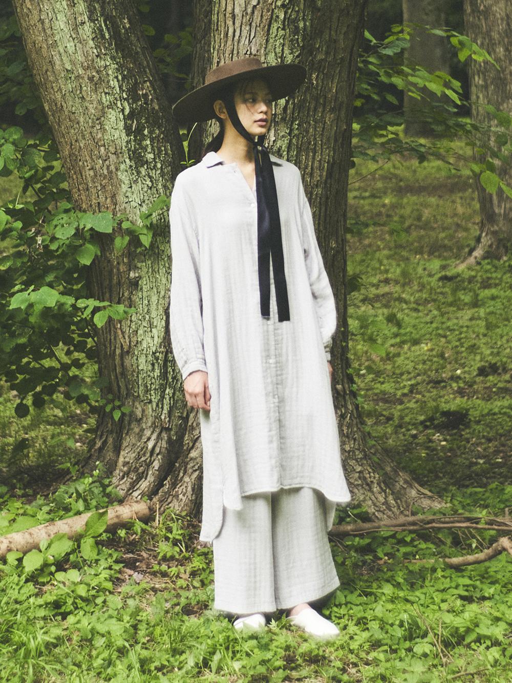 純棉紗襯衫洋裝