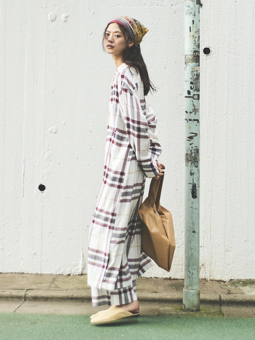 法蘭絨襯衫洋裝