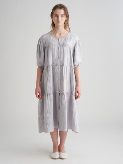 孕婦三重紗純棉蛋糕洋裝