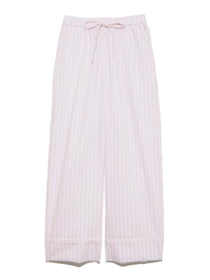純棉條紋長褲